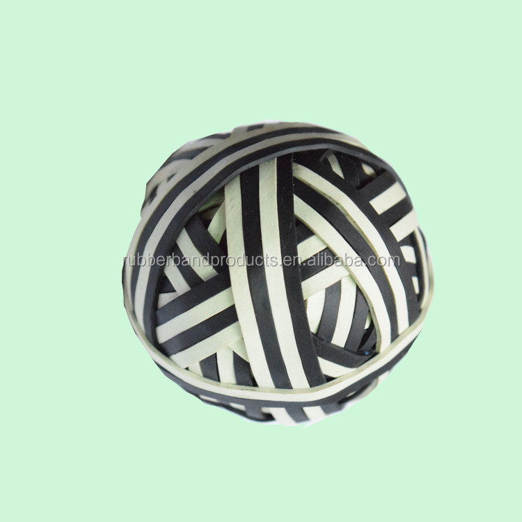 Cheap Hollow White Black Rubber Ball , Soft Silicone Elastic Band Ball