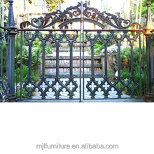 wrought iron retractable fence rolling gates design