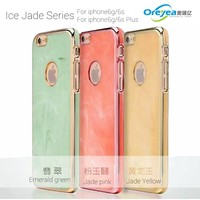 New arrival ice jade series ultra-thin luxurious electroplating PC hard case for iphone6G 6S PLUS