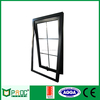 Price of powder coated black color aluminium frame awning glass window with grill design for Australian AS2047 PNOC0001THW