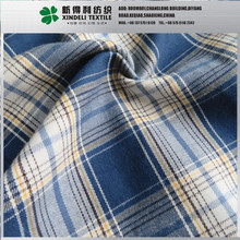 Blue woven flannel brushed 100% cotton fabric for t shirt sale