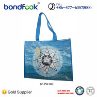 Recycle package bag shiny lamiantion pp woven package bag with food