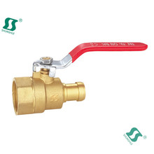 butterfly handle angle brass ball valve f/f 1/4 inch with small