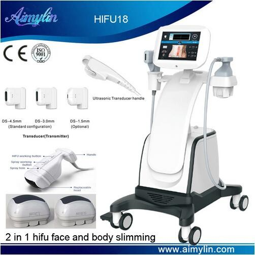 Newest beauty tech HIFU anti aging and body slimming machine