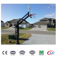 In ground basketball goal adjustable basketball stand
