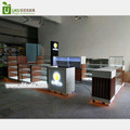 Original high quality mobile phone kiosk with glass display showcase for Au