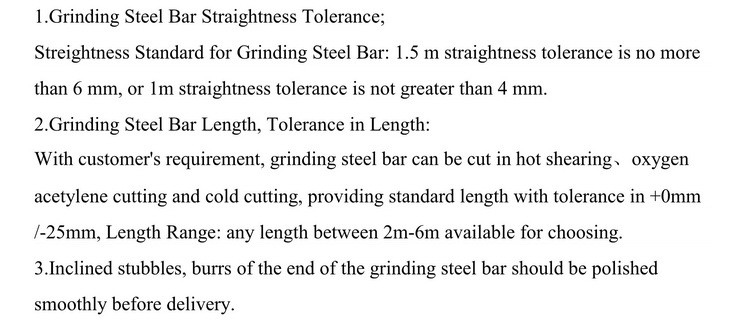 Tolerance & Weight of China Grinding Steel Ball