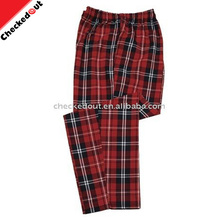 fashion clothes chef trousers, restaurant uniform printed grid kitchen baggy chef pants custom