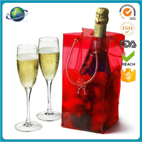 Factory supply promotional clear pvc wine cooler ice tote bag wholesale