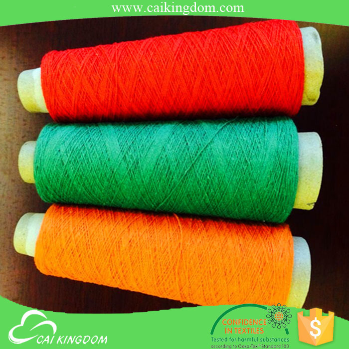 5s/2 recycled hand knitting yarn factory cotton polyester blended knitting yarn in zhejiang china