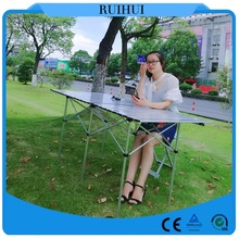 Big size light weight aluminum folding table for camping and picnic 140cm*70