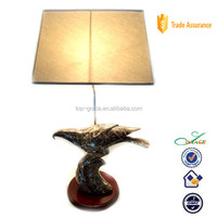 2015 living & home arts marble decal resin eagle table lamp