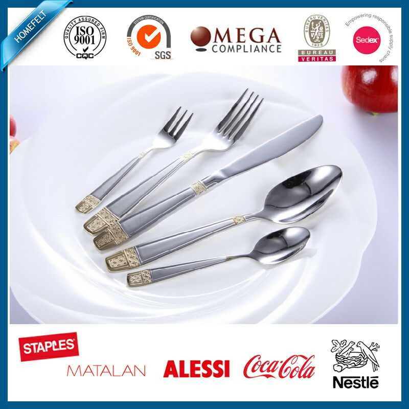 international and royal stainless steel 5pcs cutlery set