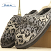 Good price fashion leopard cashmere eva slippers for women