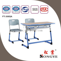 Adjustable Double Student Desk&Chair,School Furniture,Double Student Desk and Chair
