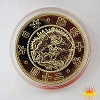 Custom promotional design 18k 24k plated gold coin