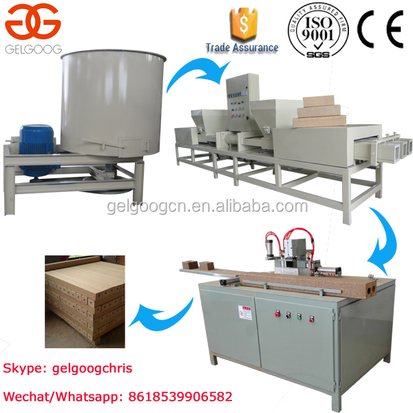 Low Cost Compressed Wood Pallet Feet Block Making Machine