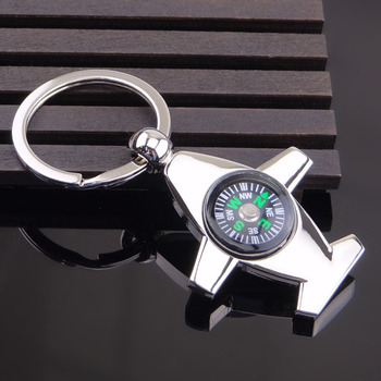 Custom logo printed wholesale promotional cheap price custom metal compass shenzhen utility key chain