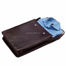 Practical and stylish travel leather shirt case