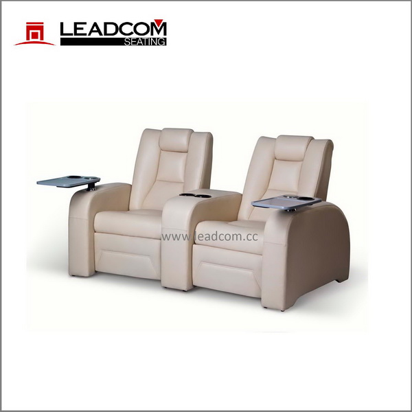 (LS-811) Leadcom leather electric home theater seat with table