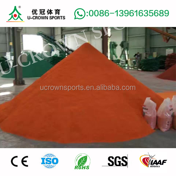 Colored EPDM rubber flooring wet pour surfacing