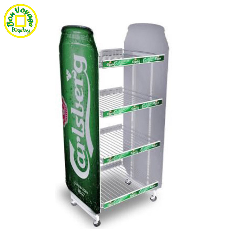 Stylish Easy Movable Metal Wire Display Racks And Stands For Beer ...