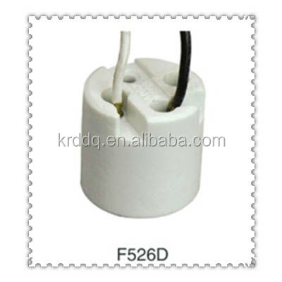F526D porcelain E27 lampholder with cable
