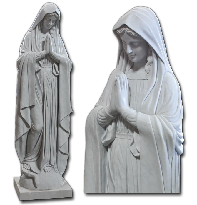 Hot sale virgin mary marble sculpture for wholesales