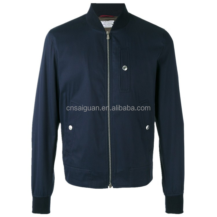 China factory hot sale fashion custom solid colors breathable men jacket