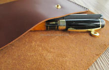 cow leather pencil bag pen bag pen case