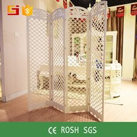 GJ-XY180 HOME-GJ Fashion white indoor room divider folding screen