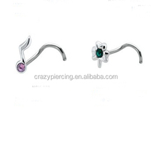 Cool 316L Surgical steel nickel free artificial designer nose rings body jewelry