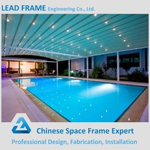 Lightweight steel space frame swimming pool cover