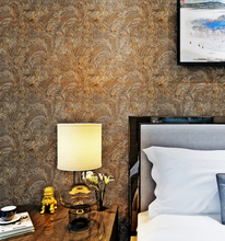 PVC flower wall paper for bedroom healthy and eco-friendly