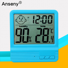 hot selling electronic temperature and humidity meter /calendar display thermometer