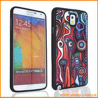 wholesale price new product funny cell phone case for Samsung galaxy note 3,cartoon pattern PU+TPU cover case
