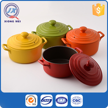 Best quality ceramic kitchen colorful custom sizes stoneware cookware set