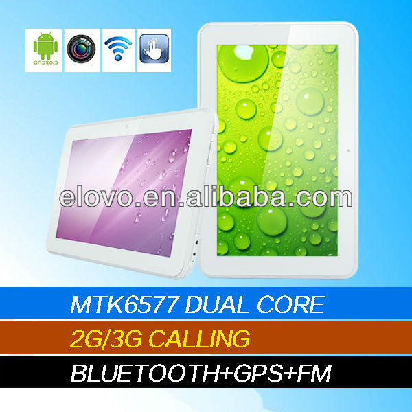 9 inch android tablet mtk6577 dual core with 3g gps bluetooth phone calling function