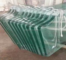 Polished edge customized shape tempered glass cost per square foot/tempered glass dining table/tempered glass railing