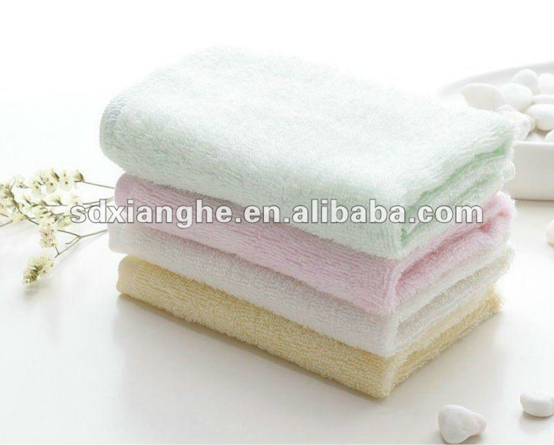 100% cotton plain color bath towel in bulk