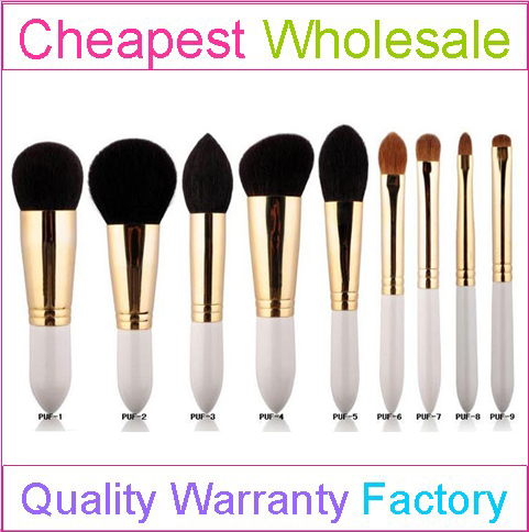 China Manufacturer 9pcs Best Quality Makeup Brush Animal Hair Brush with Customed Logo and Color