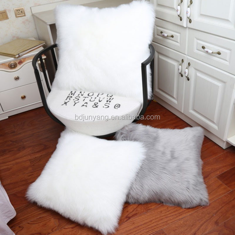 24 hours fur pillow covers throw pillow case imitated fur cushion