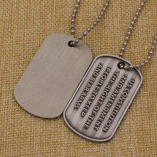 Wholesale custom cheap engraved metal military dog tag