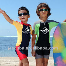 Kid's short sleeves Rash guards, Lycra suits, Swimming suits