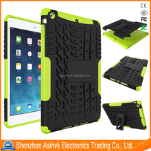 Dazzle Hybrid Armor Pc+Tpu Dual Layer Heavy Duty Shock Absorbent Tyre cover case with Kickstand For Apple iPad 5/iPad Air