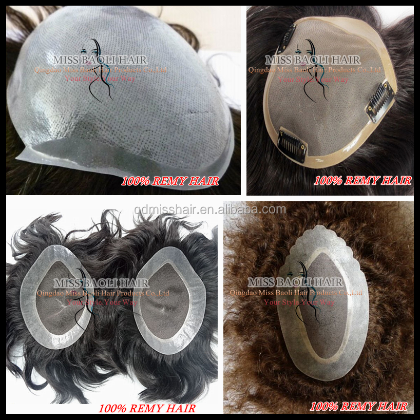 2016 Best Selling Wholesale Factory Price Tangle Free No Shedding Professional Mens Hair Piece