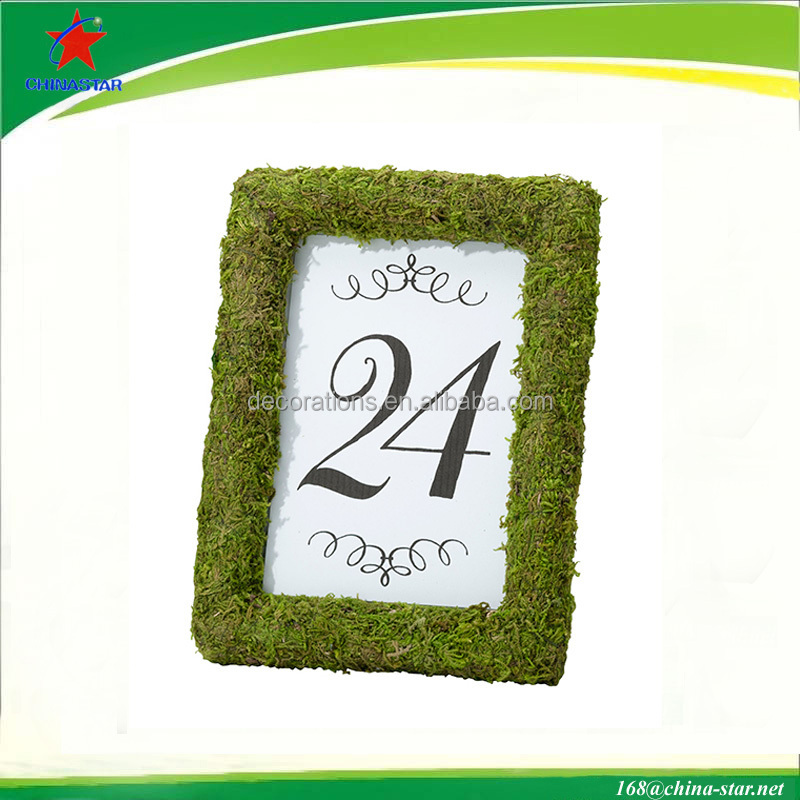 "6"" moss covered frame for wedding supplies"