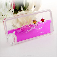 Factory phone accessories funny transparent ultra thin mobilephone cover flow liquid fish summe case for iphone 6 for samsung