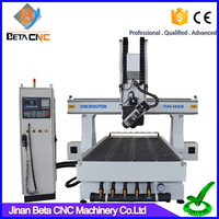 Professional 4 axis wood carving cnc router, milling engraver routing machine price for cabinet plastic doors