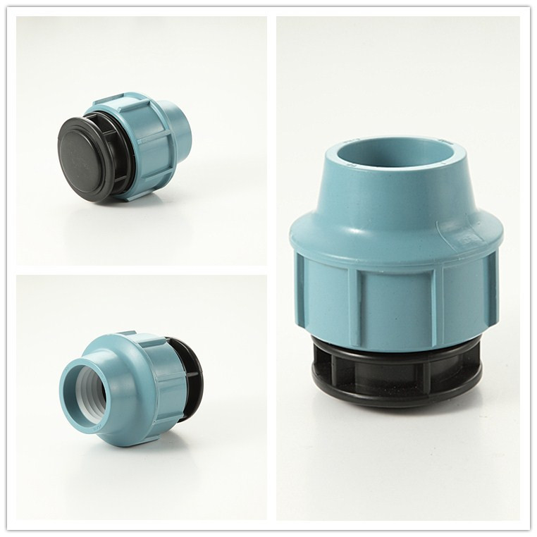Straight coupling compression fitting end cap details